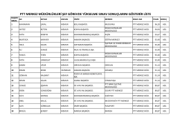 ptt merkez müdürlükleri grubu sonuçları için - Türk Haber-Sen