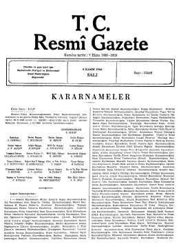 KARARNAMELE R - Resmi Gazete