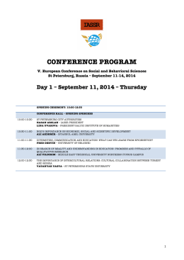 Updated Program - International Association of Social Science