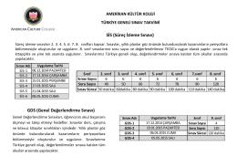 SİS (Süreç İzleme Sınavı) GDS (Genel Değerlendirme Sınavı)