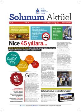 Nice 45 yıllara... - Türkiye Solunum Araştırmaları Derneği