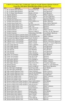 katılımcılar listesini görmek için tıklayınız.