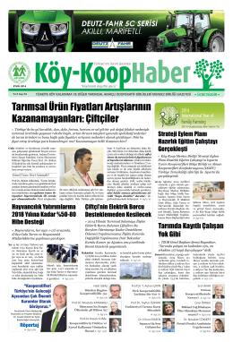 Köy-Koop Haber Gazetesi 34. Sayı - Köy