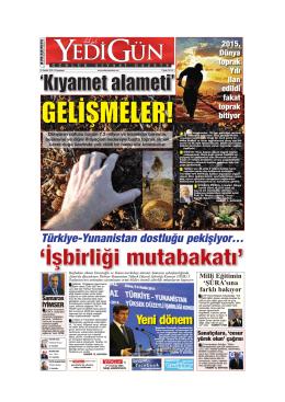 Yeni dönem - Yedigün Gazetesi