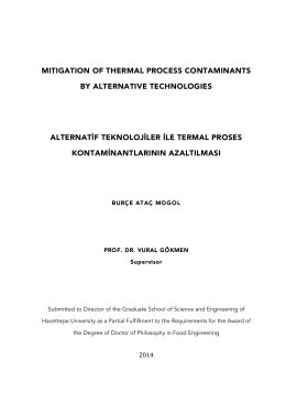 mitigation of thermal process contaminants by alternative