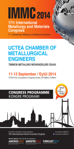 UCTEA CHAMBER OF METALLURGICAL ENGINEERS