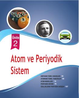 Ünite 2: Atom Ve Periyodik Sistem