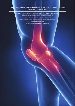 Sayı 1 - Uluslararası Hakemli Ortopedi Travmatoloji ve Spor