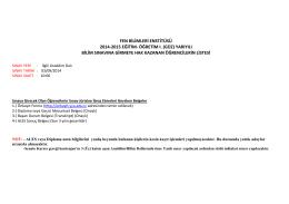 Fen Bilimleri Enstitüsü lisansüstü sınavına girecek adayların listesi