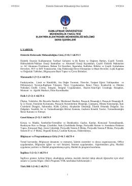 Ders İçerikleri - Türk Dili Bölümü