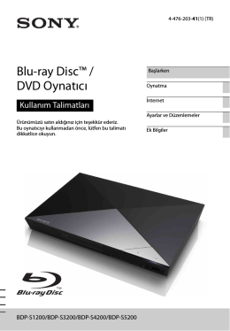 BDP-S5200 - Sony Europe