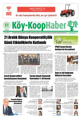Köy-Koop Haber Gazetesi 26. Sayı - Köy