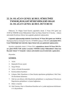 22. 24. olağan genel kurul sürecimiz tmmob jeoloji mühendisleri