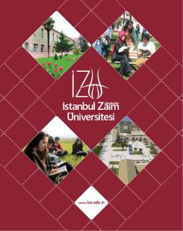 www.izu.edu.tr - İstanbul Sabahattin Zaim Üniversitesi