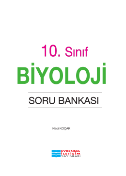 10.Sınıf Biyoloji Soru PDF