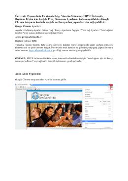 Üniversite Personelimiz Elektronik Belge Yönetim Sistemine (EBYS