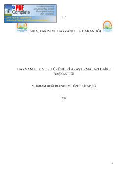 hysud_2014 özet - TC Gıda Tarım ve Hayvancılık Bakanlığı