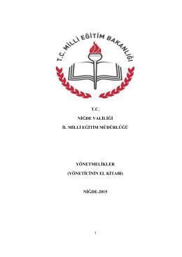 yöneticinin el kitabı - Niğde İl Milli Eğitim Müdürlüğü