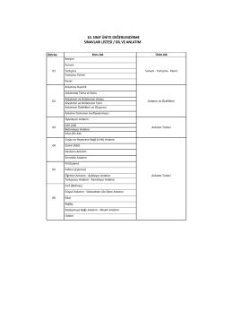 10. sınıf ünite değerlendirme sınavları listesi / dil ve anlatım