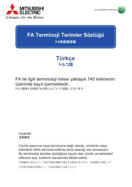トルコ語 Türkçe FA Terminoji Terimler Sözlüğü