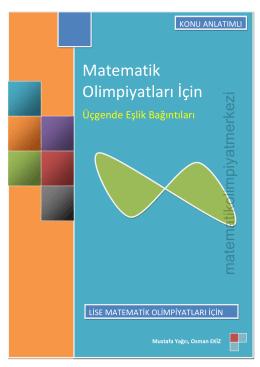 İndirmek için tıklayınız - Matematik Olimpiyat Merkezi