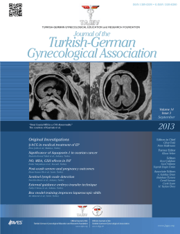 Journal of the Turkish German Gynecological Association