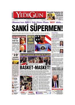 SANK‹ SÜPERMEN! - Yedigün Gazetesi