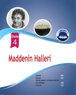 Ünite 4: Maddenin Halleri