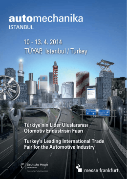 TÜYAP, Istanbul / Turkey 10 - 13. 4. 2014