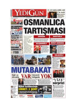 VAR YOK - Yedigün Gazetesi