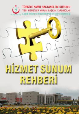 hizmet sunum rehberi - Türkiye Kamu Hastaneleri Kurumu