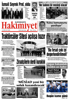 24 ocak.qxd - Çorum Hakimiyet Gazetesi