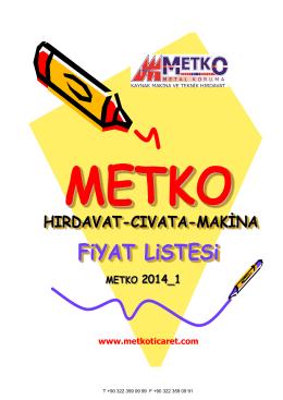 FiYAT LiSTESi - Metko Ticaret