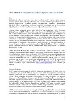 RAP 2014-2015 Dünya Sıralaması Basın Açıklaması