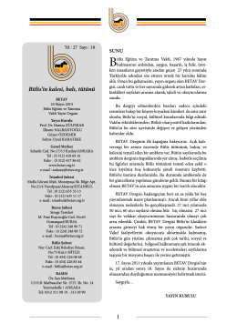 Betav 18. Sayı 24.05.2014