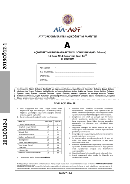 2013CÖ 12-1 2013CÖ 12-1 - Ataturkuni.Com