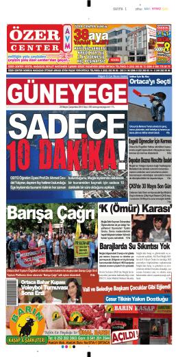 28 Mayıs 2014 - Güney Ege Gazetesi