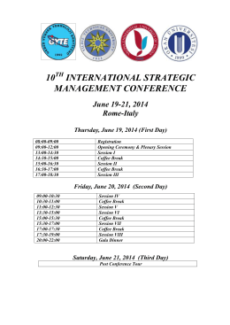 the conference presentatıon program