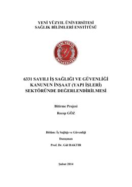 Bitirme Ödevi Recep GÖZ(1) - İstanbul Yeni Yüzyıl Üniversitesi