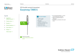Teknik dokümanını indir / Easytemp TMR31 (PDF 1,77 MB) - E