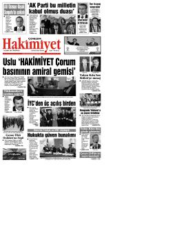 (16 \376ubat.qxd) - Çorum Hakimiyet Gazetesi