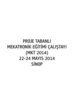 mkt 2014 - Proje Tabanlı Mekatronik Eğitimi Çalıştayı