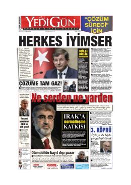 HERKES İYİMSER - Yedigün Gazetesi