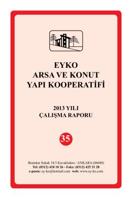 SS EyKo Arsa ve Konut Yapı Kooperatifi