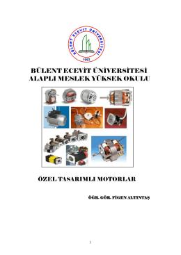 bir fazlı motorlar - Bülent Ecevit Üniversitesi