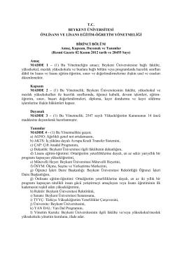 Beykent Üniversitesi Önlisans ve Lisans Eğitim