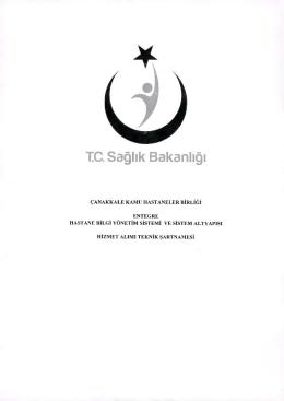 hbys teknik şartname - Çanakkale Devlet Hastanesi