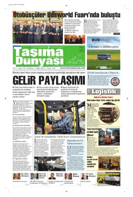 Taşıma Dünyası Gazetesi-136-PDF 28 Nisan 2014 tarihli sayısını