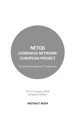 COMENIUS NETWORK EUROPEAN PROJECT
