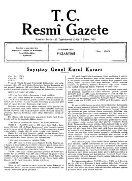 Re smı Gazete - Resmi Gazete